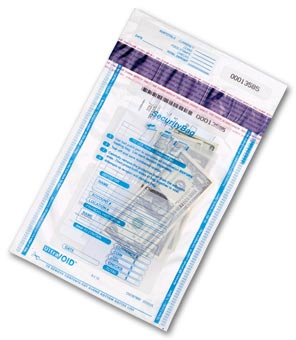 53849, Deposit Bag,All Clear,Single Pocket-9x12