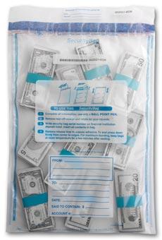 53854, Deposit Bag,All Clear,Single Pocket-15x20